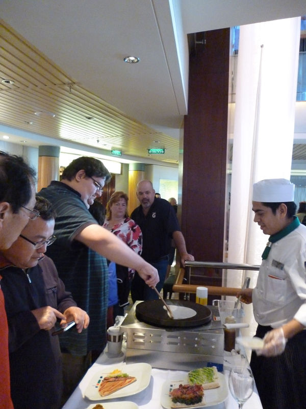 Making a crepe