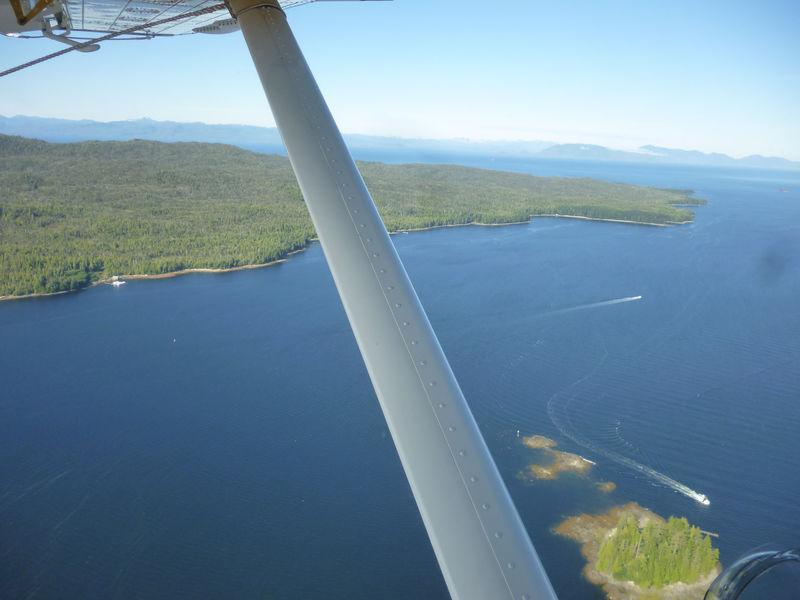 Float plane over Ketchikan