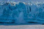 Hubbard Glacier calving sheets of ice