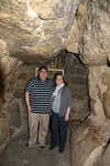 "At the ""Robbers' Tunnel"" entrance of Khufu."