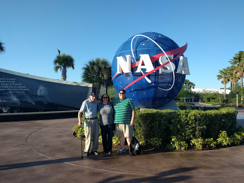 Family at Kennedy Space Center