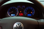 Here is the dash, lit up in that sweet Volkswagen blue and red!