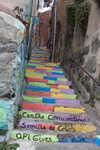 Vibrant staircase in Valpariso
