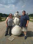 Snowman in July?!